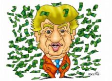 Donald Trump, candidato a presidente de Estados Unidos. (Dibujo: NOVA)
