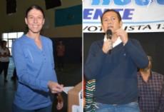 Julieta Corroza candidata a intendente de Plottier y Marcelo Rucci de Rinc�n de los Sauces.